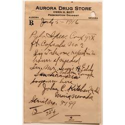 Aurora Drug Store Prescription Slip  (113394)