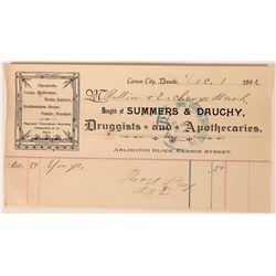 Summers & Dauchy, Druggists and Apothecaries, Billhead  (113360)