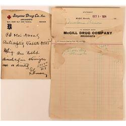 Steptoe & McGill Drug Store Ephemera  (113430)