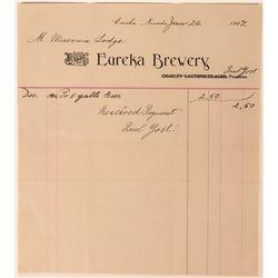 Eureka Brewery Billhead  (113367)