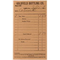 Goldfield Bottling Company Receipt  (113491)