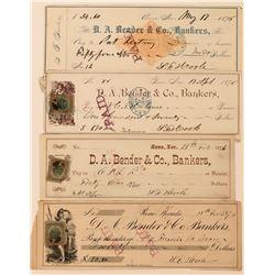 Checks Signed by Reno Druggist S.F. Hoole  (113521)