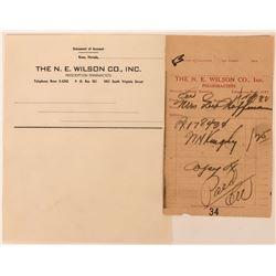 N.E. Wilson Co., Inc. Pharmacists Ephemera  (113207)