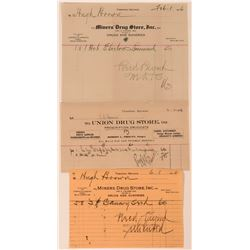 Tonopah Drug Store Billheads  (113359)