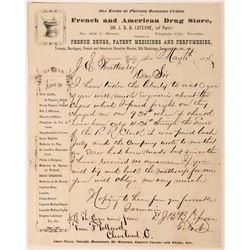 Dr. JBB Lefevre, French & American Drug Store, Letterhead  (113610)