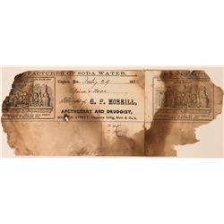 G.P. Morrill, Apothecary & Druggist, Billhead  (113497)