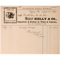 Kelly & Co., Pioneer Soda Works, Billhead  (113607)