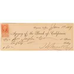 Mackay Signed Check issued to Thos. Taylor & Co. Whiskey Merchants  (113514)