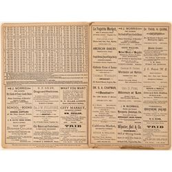 Two Arithmetic Cards Advertising Virginia City Druggists  (113206)
