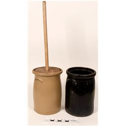Crock Butter Churns - Vintage (2 each)  (121125)