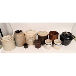 Crockery Pieces With Lids (10 Assorted)  (120869)