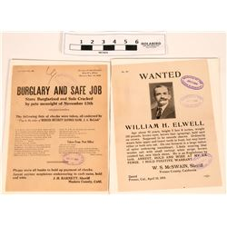 Wanted Posters - Burglary & Safe Job, and Fugitive (2)  (118269)