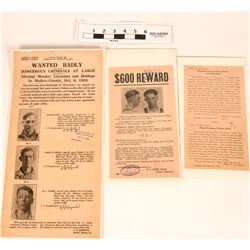 Wanted Posters - Murder, Attempted Murder and Fictitious Checks (3)  (118268)