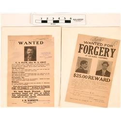 Wanted Posters- Jumping Bond and Forgery (2)  (120657)