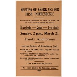Broadside for Meeting of Americans for Irish Independence  (113617)