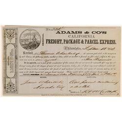 Adams & Company Freight Receipt  (119979)