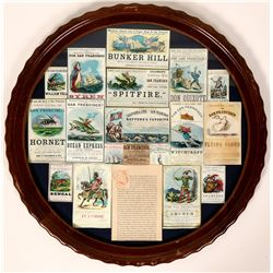 Clipper Ship Card Repros in Antique Frame (120856)