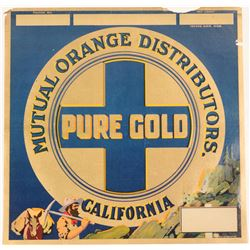 Pure Gold Fruit Label  (108587)