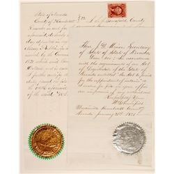 Humboldt County Notary Public Appointment with a Gold and Silver Seal!  (105763)