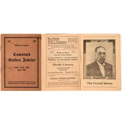 Comstock Golden Jubilee Official Program  (113485)