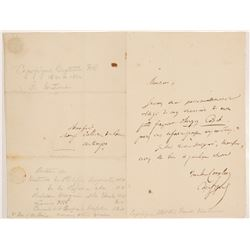 Jean-Baptiste Honoré Raymond Capefigue Signed Letter  (106484)