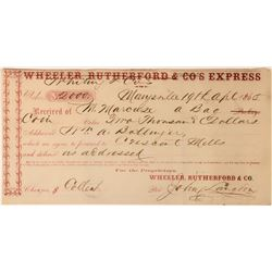 Wheeler, Rutherford & Co. Express Receipt Signed by John Langton  (113565)