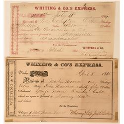 Whiting & Co.'s Express Receipts  (113539)