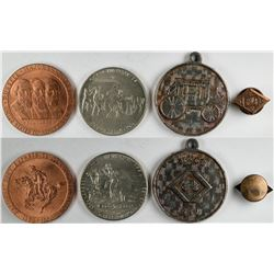 Wells Fargo and Pony Express Tokens  (123092)