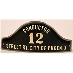 Phoenix Street Railway Conductor Cap Badge  (113420)