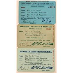 San Pedro, Los Angeles & Salt Lake Railroad Co. Annual Passes  (113442)