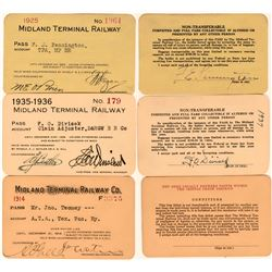 Midland Terminal Railway Annual Passes  (113472)