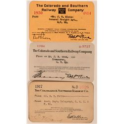 Colorado & Southern Railway Annual Passes  (113435)