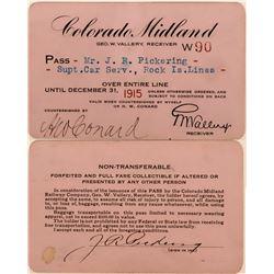 Colorado Midland Railway Annual Pass  (113443)