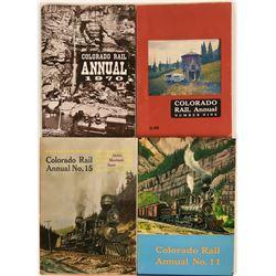 Colorado Rail Annuals (4)  (122279)