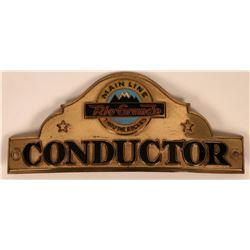 Rio Grande Conductor Cap Badge  (113418)