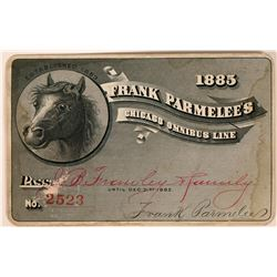 Frank Parmelee's Chicago Omnibus Line Pass  (113474)