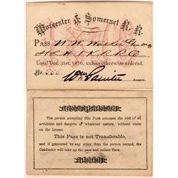 Worcester & Somerset Railroad Annual Pass  (113453)