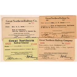 Great Northern Railway Company Annual Passes  (113444)