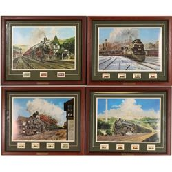 Jim Deneen Train Prints with Stamps  (121242)