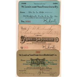 St. Louis & San Francisco Railway Annual Passes  (113438)
