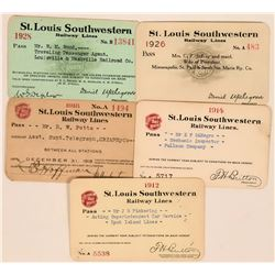 St. Louis Southwestern Railway Lines Annual Passes  (113457)