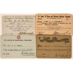 Four Different St. Louis Railroad Passes  (113470)