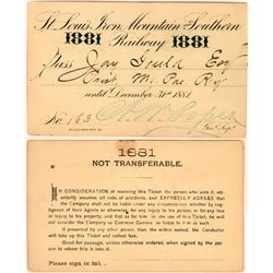 St. Louis, Iron Mountain & Southern Railway Pass Issued to Jay Gould  (113471)