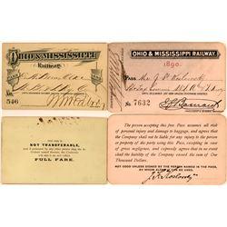 Ohio & Mississippi Railway Annual Passes  (113464)