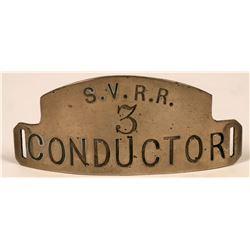 Shamokin Valley Railroad (SVRR) Conductor Cap Badge  (113413)