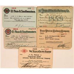Five Texas Railroad Annual Passes  (113460)