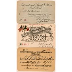 International & Great Northern Railroad Company Annual Passes  (113439)