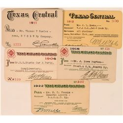 Texas Railroad Passes from Two Lines  (113459)