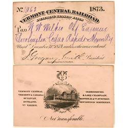 Vermont Central Railroad Annual Pass  (113454)