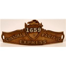 Canadian Pacific Express Cap Badge  (113424)
